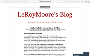 A list of Books, Articles and Films about Rocky Flats, from Dr. LeRoy Moore's Blog