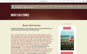 Read Stories about Rocky Flats from nearby residents. Kristen Iversen has collected many stories from the community since her book on Rocky Flats was published.